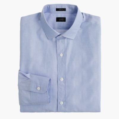 Tall Ludlow shirt in end-on-end cotton