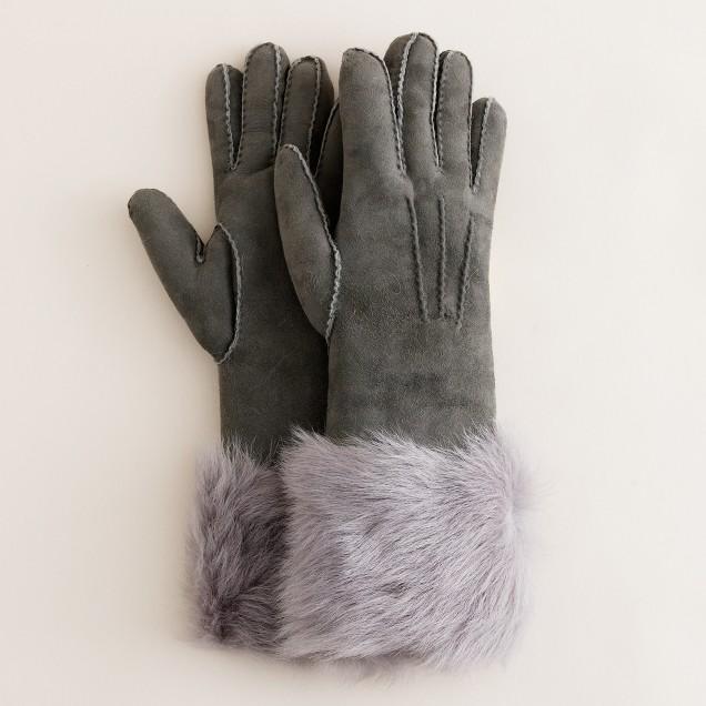 Toscana shearling gloves
