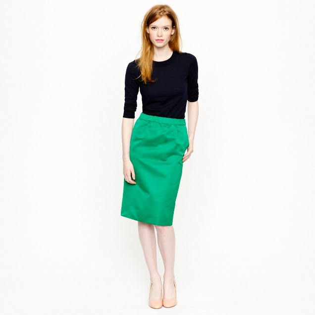 Collection satin pencil skirt