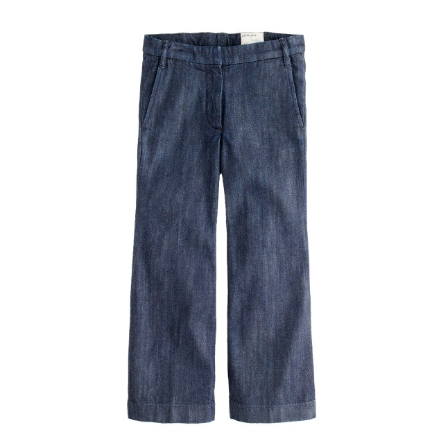 Girls' wide-leg denim trouser