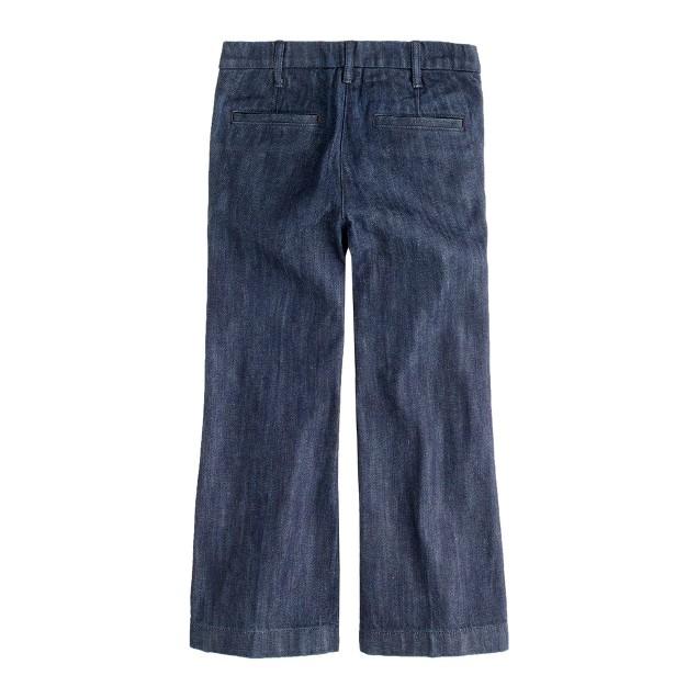 Girls' wide-leg denim trouser