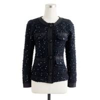 Collection sequin tweed jacket