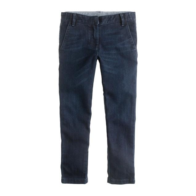 Girls' stretch denim trouser