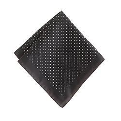 Italian silk pocket square in mini dot
