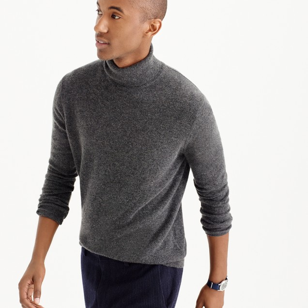 Italian cashmere turtleneck sweater