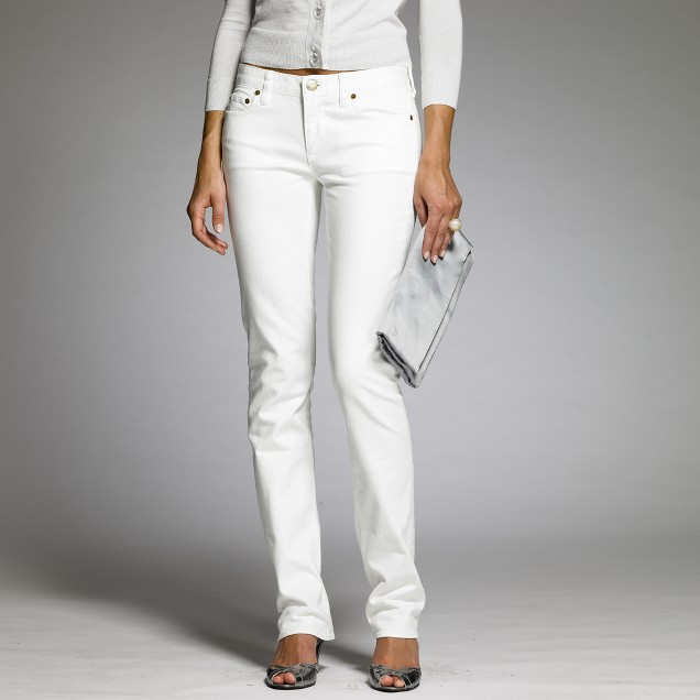 White denim matchstick jean