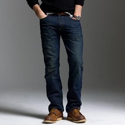 Bootcut-fit jean in dark worn wash