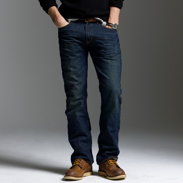 Bootcut-fit jean in dark worn wash