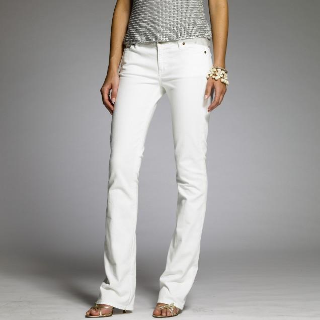 White denim bootcut jean