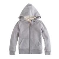 Boys' sherpa zip hoodie