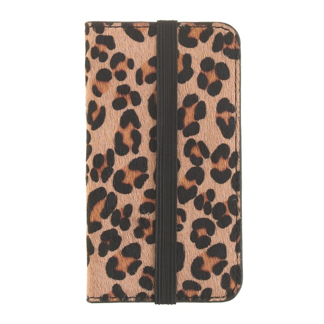 Calf hair wallet case for iPhone® 4/4s