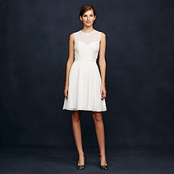 Ivory Clara dress in silk chiffon