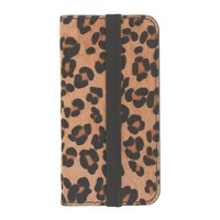 Calf hair wallet case for iPhone® 5/5s