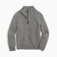 Boys' cashmere half-zip sweater