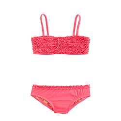 Girls' tiny frills bikini set in neon