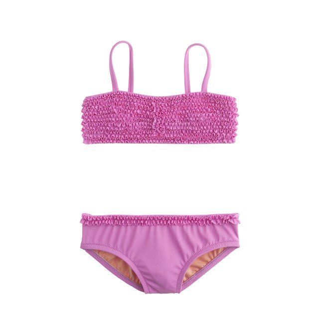 Girls' tiny frills bikini set in neon