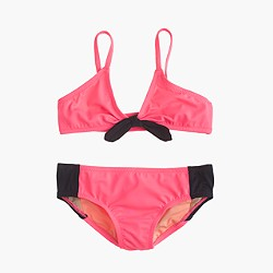 Girls' bikini set in colorblock