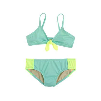 Girls' bikini set in colorblock