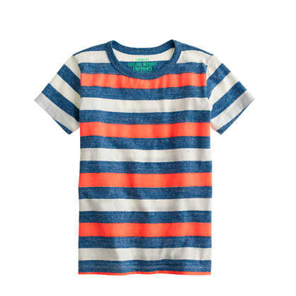 Boys' heathered stripe tee