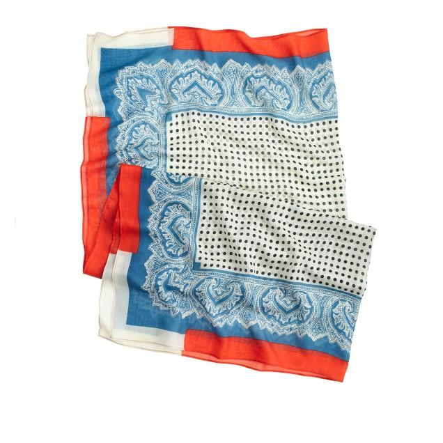 Printed square scarf