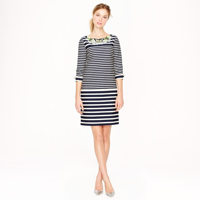 Collection stripe paillette dress