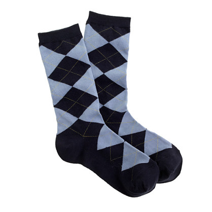 Argyle trouser socks