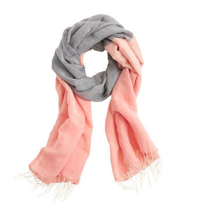 Chambray linen blend scarf