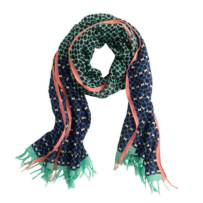 Colorblock foulard scarf