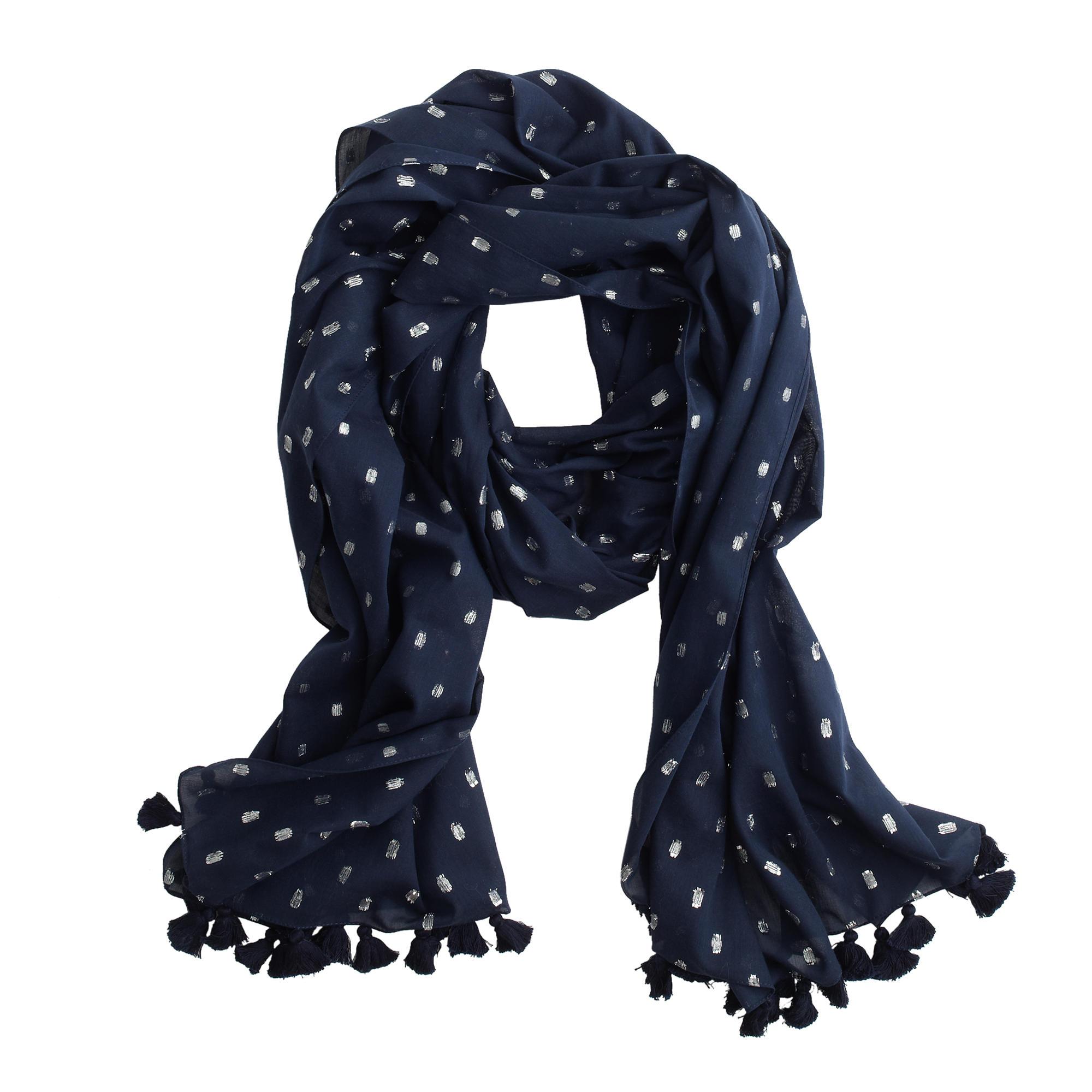 metallic dot scarf j crew