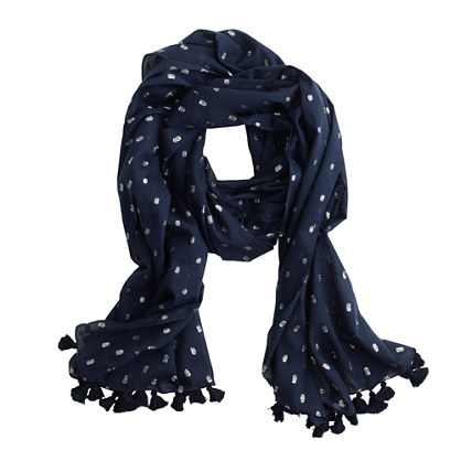 Metallic dot scarf