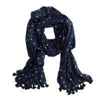 Metallic dot scarf