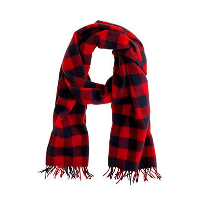 Cashmere buffalo check scarf