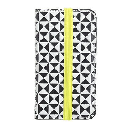 Pattern-block wallet case for iPhone® 4/4S
