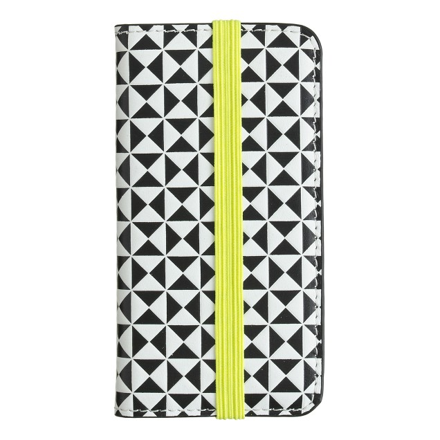 Pattern-block wallet case for iPhone® 5/5S