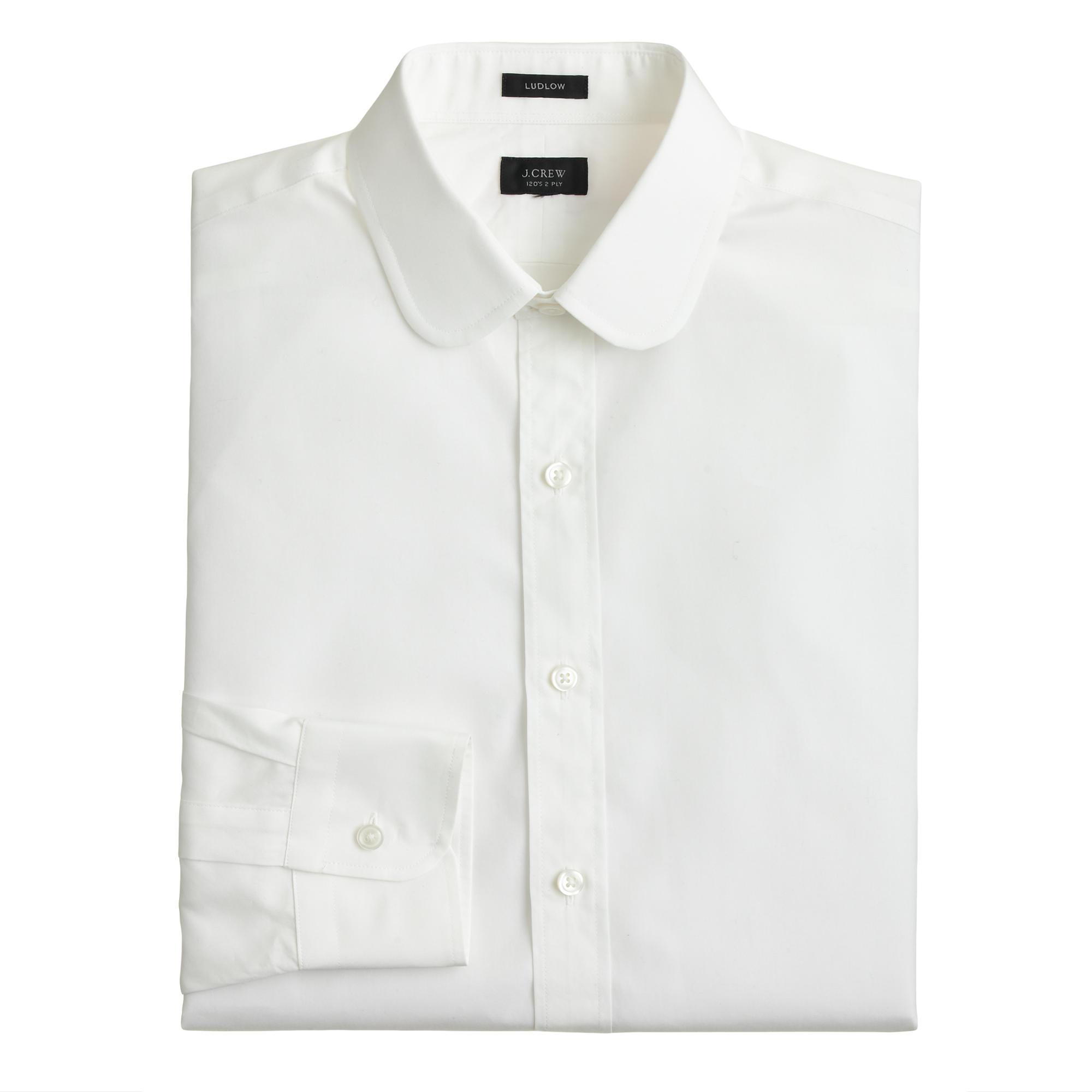 Ludlow White Club-collar Shirt In Solid  Men Ludlow | J.Crew