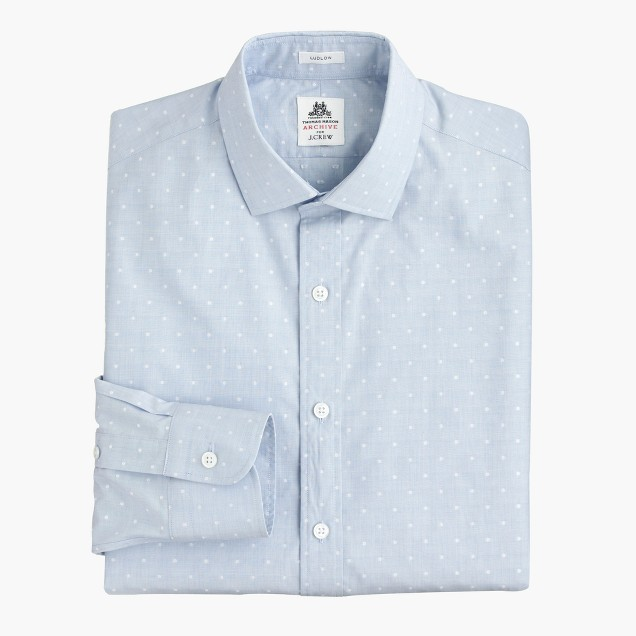 Thomas Mason® Archive for J.Crew Ludlow shirt in 1904 dot