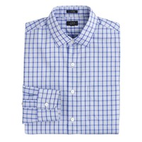 Ludlow spread-collar shirt in vintage periwinkle check