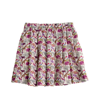 Girls' pleated skirt in liberty queue for the zoo