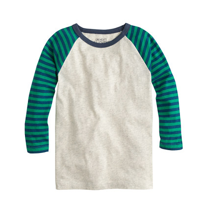 Boys' baseball T-shirt in stripe