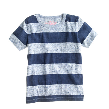 Boys' heathered stripe jersey tee