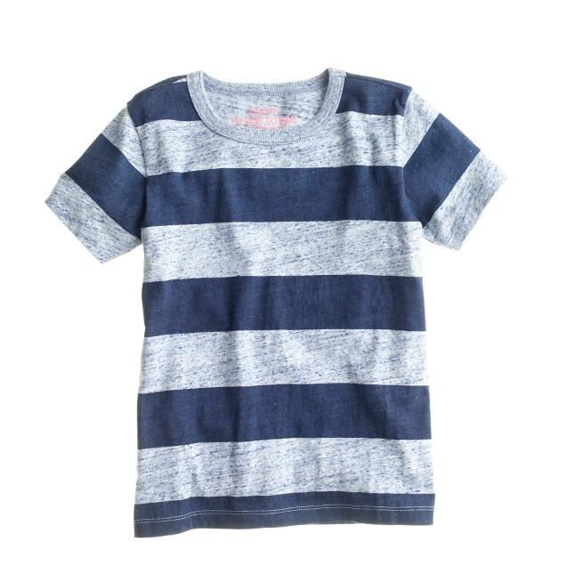Boys' heathered stripe jersey tee