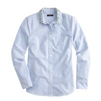Jeweled Peter Pan oxford boy shirt in blue