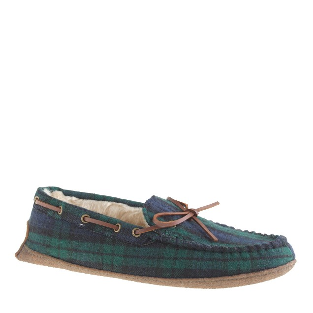 Shearling-lined moccasins