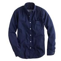 Secret Wash shirt in cross square print