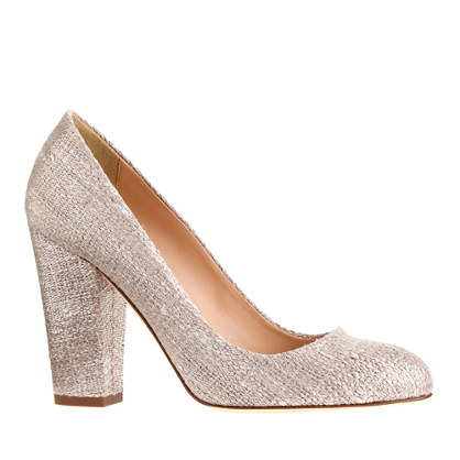 Blakely shimmer linen pumps