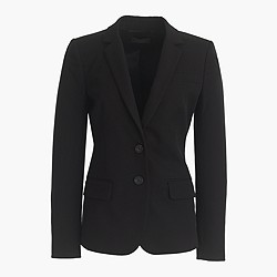 Petite Thompson blazer in bi-stretch cotton