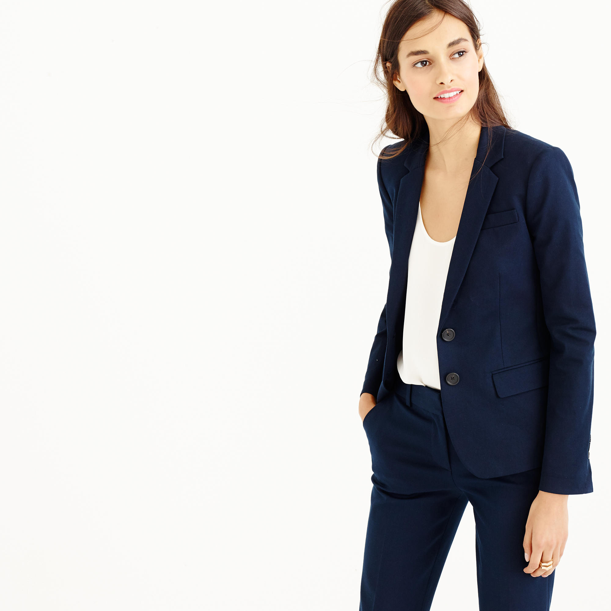 Petite Thompson blazer in bi-stretch cotton : Women suiting | J.Crew