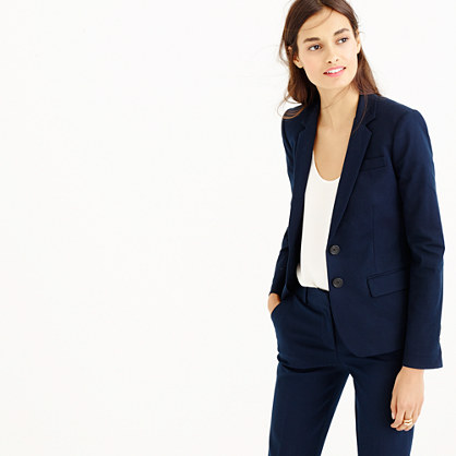 Thompson blazer in bi-stretch cotton