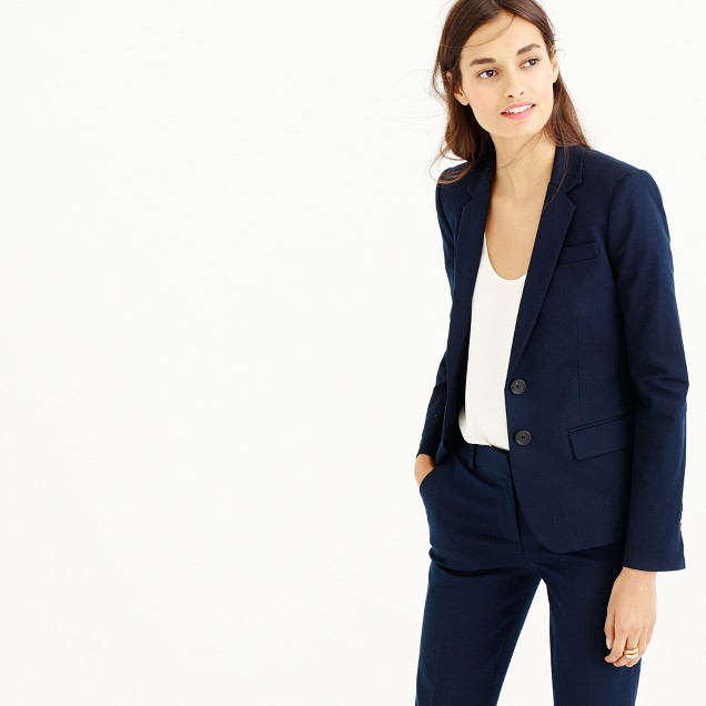 Thompson blazer in two-way stretch cotton