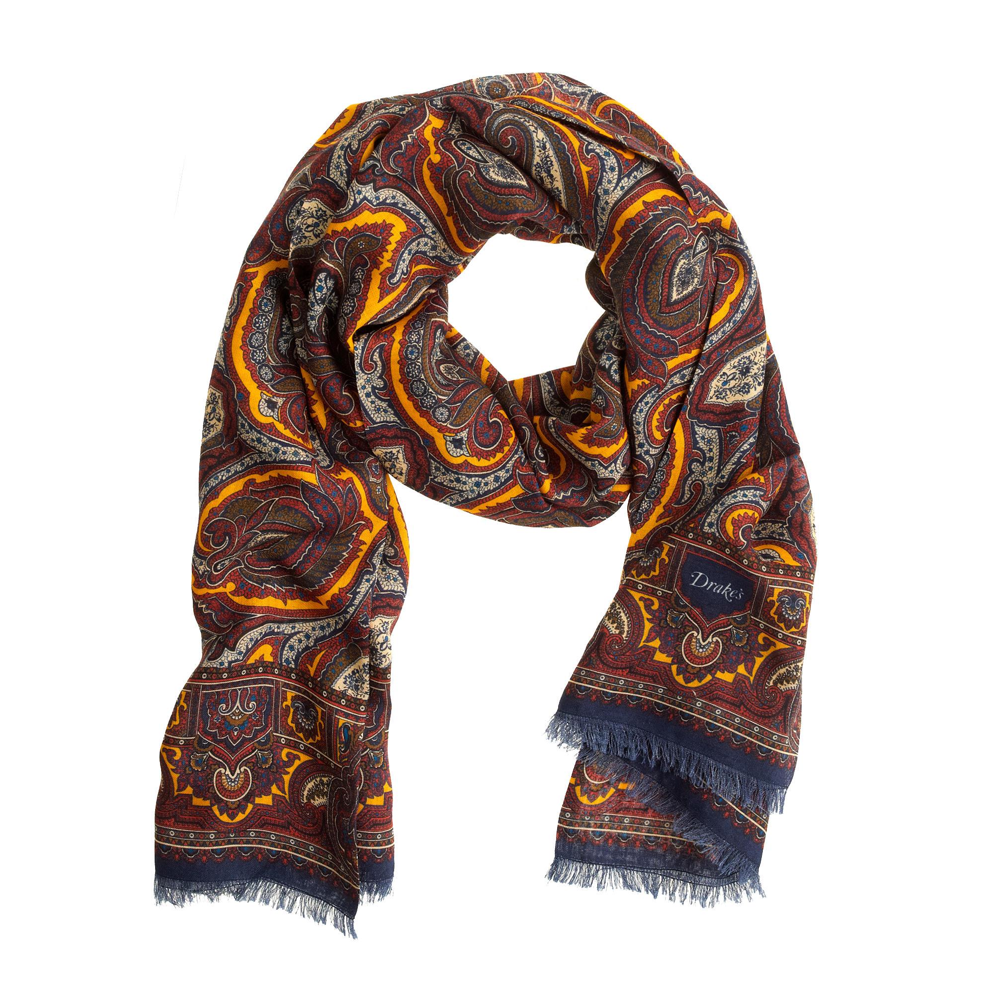 s 174 for j crew paisley scarf j crew